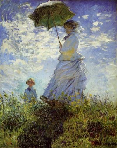 Claude-Monet-The-Walk-Woman-with-a-Parasol-Oil-Painting